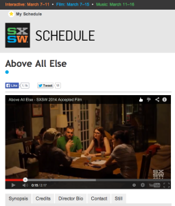 Above All Else SXSW