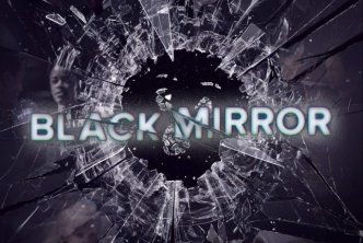 Logo for Black Mirror a dark science fiction anthology video series
