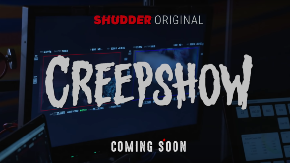 Logo for Creepshow a horror anthology video series produced by Shudder